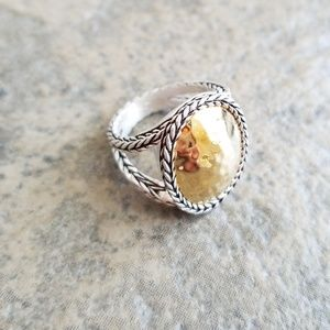 Gorgeous Premier Designs Silver Gold Hammered Ring